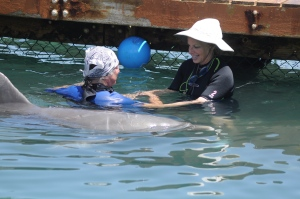 Jan, a dolphin, and a client together!