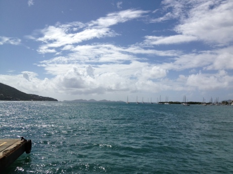 The view from the ferry in Tortola