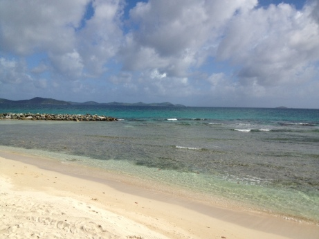 The view from the beach at Nanny Cay